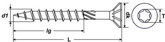 Bild von Senkkopf-Holzbauschrauben mit Torx
